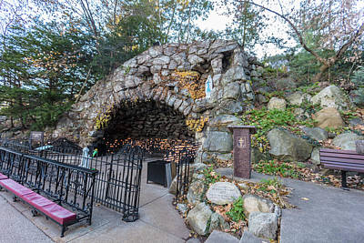 Photograph - Grotto Of Our Lady Of Lourdes  by John McGraw