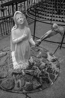 Photograph - Grotto Of Our Lady Of Lourdes Statue  by John McGraw