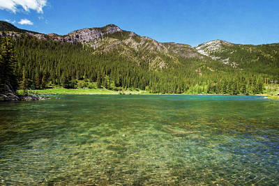 Alberta Photograph - Grotto Pond Canmore Alberta by Joan Carroll