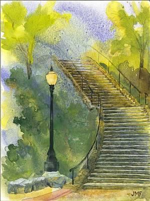 Grotto Stairs Art Print by John Meng-Frecker