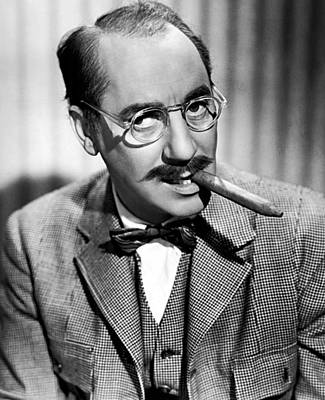 Groucho Marx Photograph - Groucho Marx 1940s by Mountain Dreams