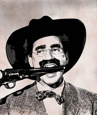 Groucho Marx Art Print by Alvaro Valino