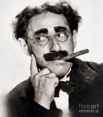Musician Royalty-Free and Rights-Managed Images - Groucho Marx by JS by John Springfield