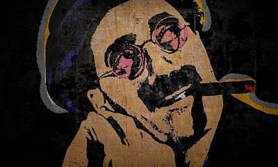 Groucho Marx Mixed Media - Groucho Marx Composition 2 by Otis Porritt