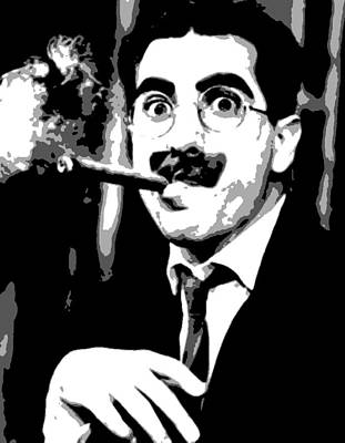 Groucho Marx Painting - Groucho Marx by Dan Carman