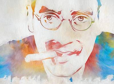 Johnny Carson Painting - Groucho Marx by Dan Sproul