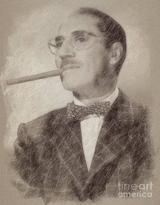 Singer Drawing - Groucho Marx by Frank Falcon