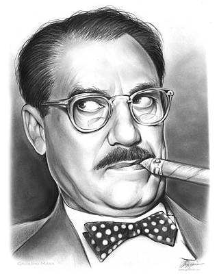 Drawings Rights Managed Images - Groucho Marx Royalty-Free Image by Greg Joens