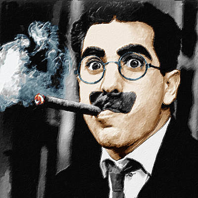 Groucho Marx Square  Art Print by Tony Rubino