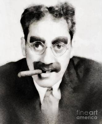 Groucho Marx Painting - Groucho Marx, Vintage Hollywood Legend by John Springfield