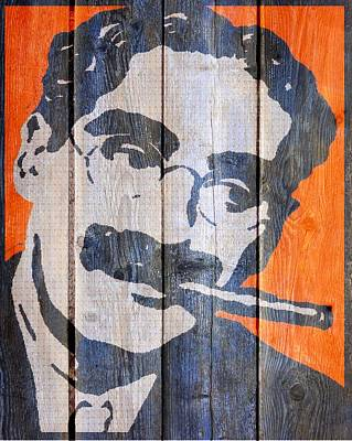 Groucho Marx Mixed Media - Groucho-wood Fence by Otis Porritt