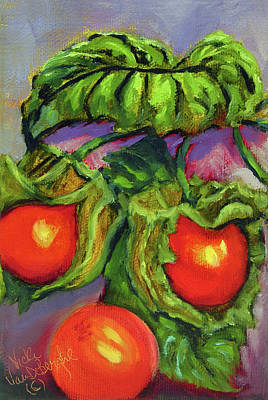 Painting - Ground Cherries by Vicki VanDeBerghe