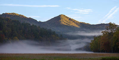 Photograph - Ground Fog In Cataloochee Valley - October 12 2016 by D K Wall