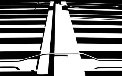 Black And White Photograph - Ground Roof by Mike Vines