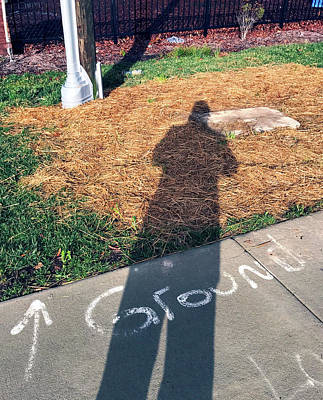 Photograph - Ground Self Portrait Durham Nc by Kevin Callahan