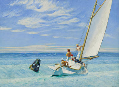 Bare-chested Painting - Ground Swell by Edward Hopper
