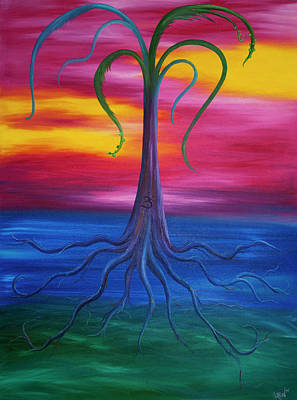 Tree Roots Painting - Grounded by Kortney Beth