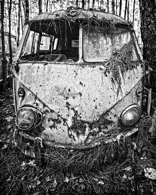 Photograph - Grounded Vw Bus by Alan Raasch