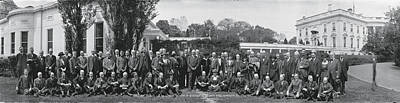 Harding Photograph - Group Including Einstein And Harding 1921 Washington Dc by Panoramic Images