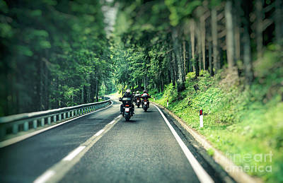 Photograph - Group Of Bikers On The Highway by Anna Om