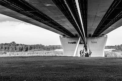 Photograph - Group Of Children Playing Under A Bridge by John Williams