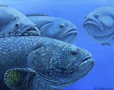 Group Of Groupers Original by Cara Bevan