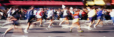 Group Of People Running, Marathon, New Art Print by Panoramic Images