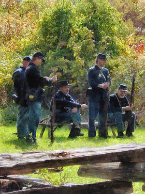 Photograph - Group Of Union Soldiers by Susan Savad