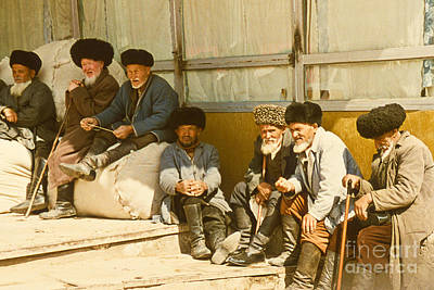 Retiree Photograph - Group Of Uzbek Retirees by Heiko Koehrer-Wagner
