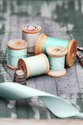 Photograph - Group Of Vintage Sewing Notions by Stephanie Frey