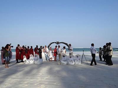 Group Wedding Photo Africa Beach Art Print