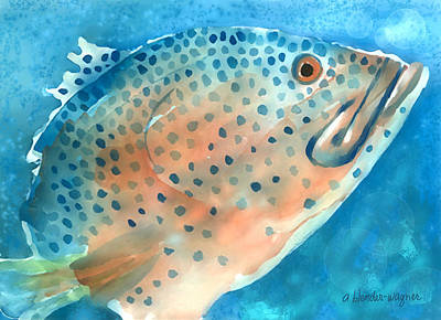 Sealife Digital Art - Grouper by Arline Wagner