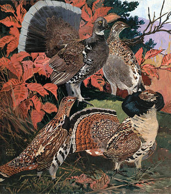 Painting - Grouse by Lynn Bogue Hunt