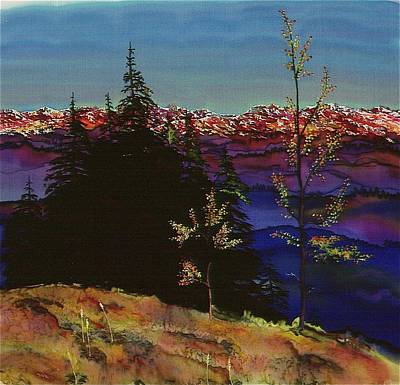 Nature Batik Tapestry - Textile - Grouse Mountain by Carolyn Doe
