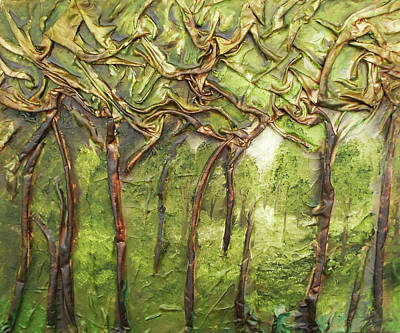 Mixed Media - Grove Of Trees by Angela Stout
