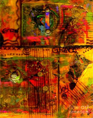 Mixed Media - Grow In Grace by Angela L Walker