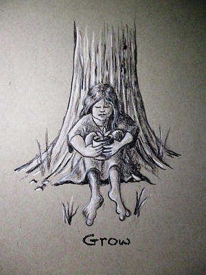 Drawing - Grow by Larry Whitler