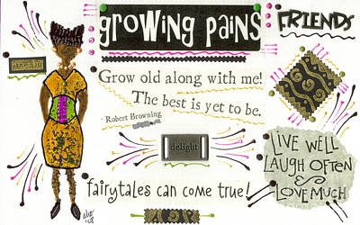 Mixed Media - Grow Old With Me by Angela L Walker