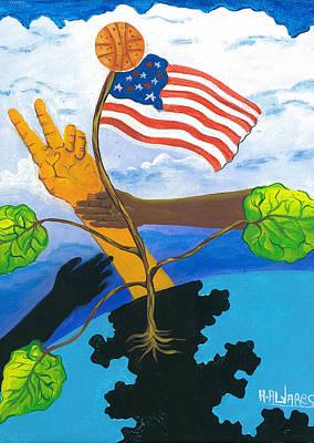 Herold Alvares Painting - Grow Peace by Herold Alvares
