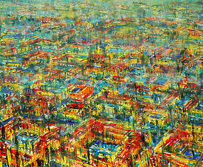 Painting - Growing City by De Es Schwertberger