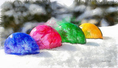 Peppers Painting - Growing Eggs - Pa by Leonardo Digenio