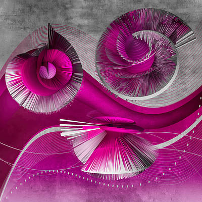 Digital Art - Growing Flowers With Music Pink by Angelina Vick
