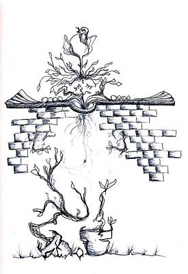 Drawing - Growing Nowhere by Doug Johnson