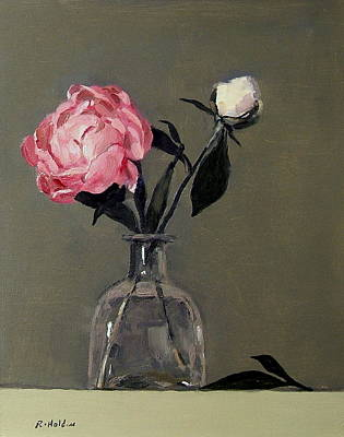 Painting - Growing Peony Buds by Robert Holden