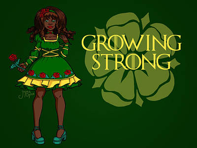 Digital Art - Growing Strong by Jaymie Dylan