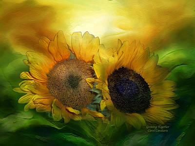 Growing Together Art Print by Carol Cavalaris