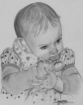 Drawing - Growing Up Is Hard  by Barb Baker