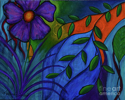 Painting - Growing Wild by Nadine J Larder