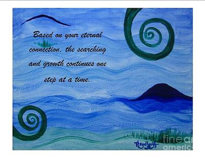 Painting - Growth Spiritual Art Poster With A Message by Pat Heydlauff
