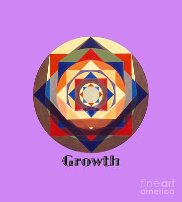 Painting - Growth Text by Michael Bellon